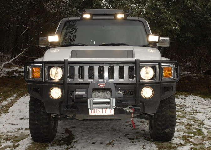 Hummer h3 roof mounted light lamp kit hummer forums by elcova aloadofball Image collections