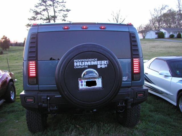 Rear License Plate Relocation Kit - Hummer Forums by Elcova